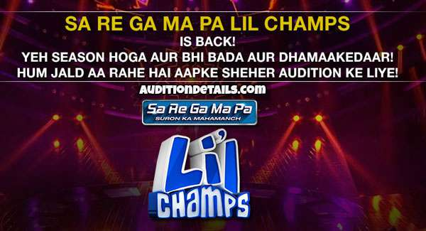 Sa Re Ga Ma Pa Li'l Champs Season 7 - Auditions & Registration 2020