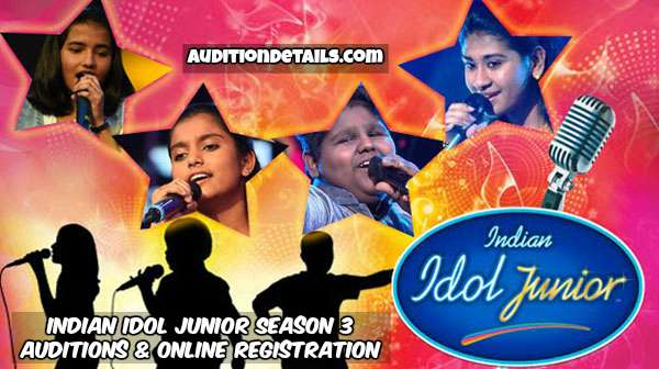 Indian Idol Junior Season 3 – Auditions & Online Registration 2018