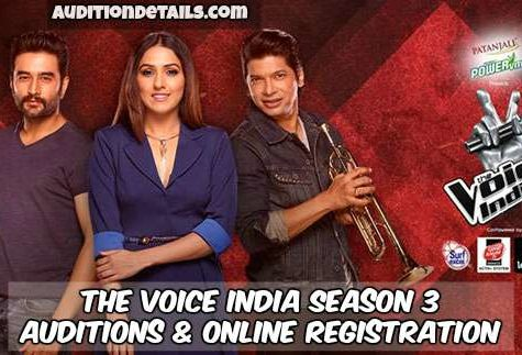 The Voice India Season 3 – Auditions & Online Registration 2018