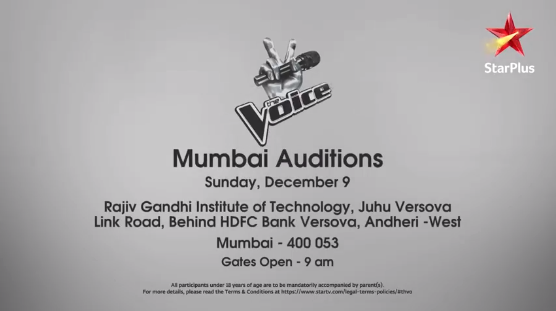 the voice india mumbai auditions