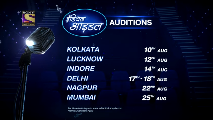 Indian Idol 2019 Audition Date