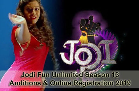 Jodi Fun Unlimited Season 13 - Auditions & Online Registration 2019
