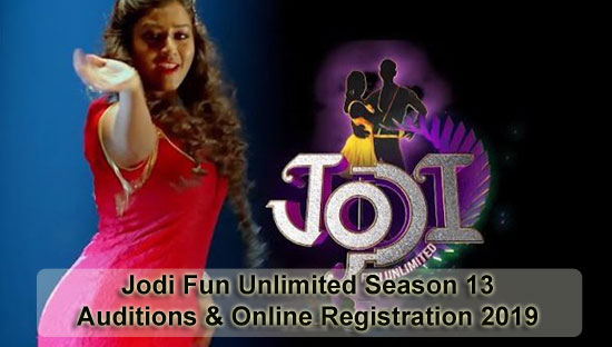 Jodi Fun Unlimited Season 13 - Auditions & Online Registration 2019