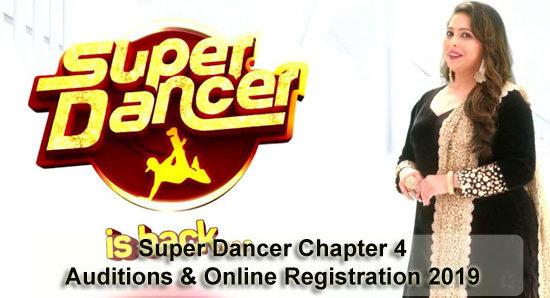 Super Dancer Chapter 4 - Auditions & Online Registration 2019