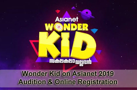 Wonder Kid on Asianet 2019 - Audition & Online Registration