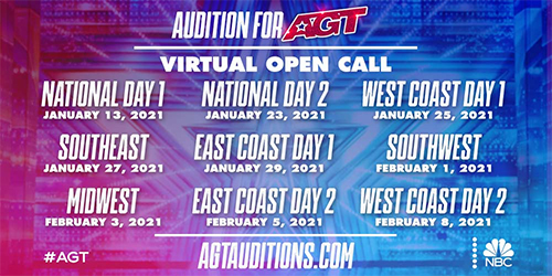 AGT 16 virtual audition